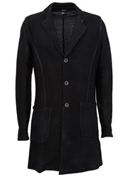 Avant Toi Single Breasted Coat Black