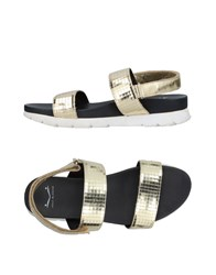 Voile Blanche Sandals Gold