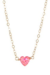 Bb Collection Heart Necklace Pink