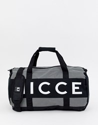 Nicce London Holdall In Grey With Logo