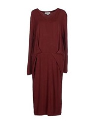 Ready To Fish Knee Length Dresses Maroon