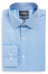 Bonobos 'Daily Grind' Slim Fit Wrinkle Free Herringbone Dress Shirt Blue
