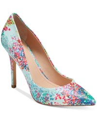 Charles By Charles David Pact Leather Pumps Women's Shoes Light Muti Blossom Print