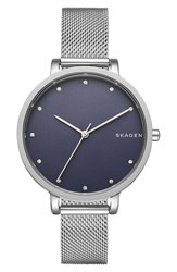Skagen Women's Hagen Round Mesh Strap Watch 34Mm