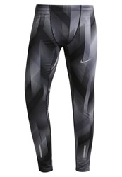 Nike Performance Tights Dark Grey Reflective Silver