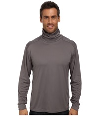 Hot Chillys Peach Solid Roll T Neck Charcoal Men's Long Sleeve Pullover Gray