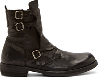Officine Creative Black Monk Strap Serrano Boots