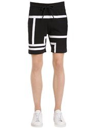 Bikkembergs Striped Intarsia Cotton Knit Shorts