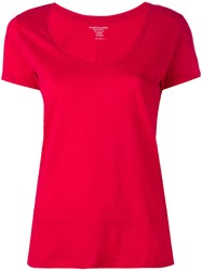 Majestic Filatures Cherry T Shirt Women Cotton 2 Red