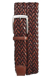 Torino Belts Men's Big And Tall Braided Leather Belt Black Brown