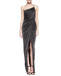 Aidan Mattox One Shoulder Draped Ruched Gown Women's