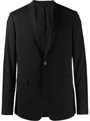 Fendi Logo Trim Blazer Jacket Black