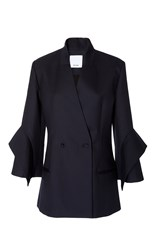 Acler Bauer Double Breasted Blazer Navy