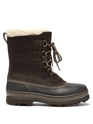 Sorel Caribou Faux Shearling Lined Snow Boots Grey