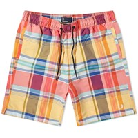 Fred Perry Madras Check Swim Short Orange
