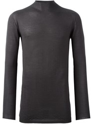 Rick Owens Slim Fit Knitted Top Grey