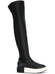 Paloma Barcelo Knee High Platform Boots Black