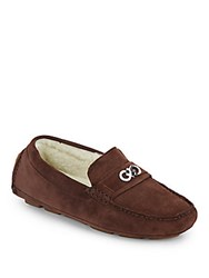 Cole Haan Shelby Suede Moccasins Chestnut