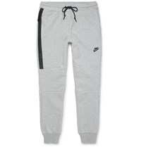 Nike Slim Fit Cotton Blend Tech Fleece Sweatpants Gray
