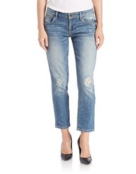Guess Distressed Crop Boyfriend Jeans Inkwell Destroy