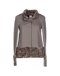 Pf Paola Frani Jackets Dove Grey