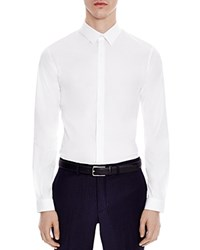 Sandro Seamless Stretch Slim Fit Button Down Shirt White