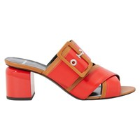 Pierre Hardy Gae 70 Mm Heeled Mules Calf Red Camel