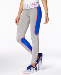 Material Girl Active Pro Juniors' Colorblocked Graphic Leggings Play Ball