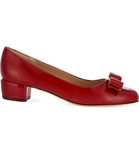 Salvatore Ferragamo Vara I Patent Leather Court Shoes Red Dark