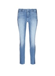 Vince Contrast Side Strapping Cotton Jeans Blue