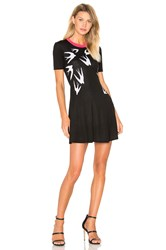Mcq By Alexander Mcqueen Swallow Jacq Skater Dress Black And White