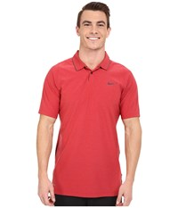 Nike Tiger Woods Velocity Woven Solid Polo Gym Red Black Reflect Black Men's Short Sleeve Knit
