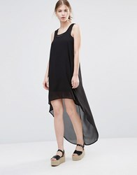 Noisy May Hannah Hi Low Dress Black