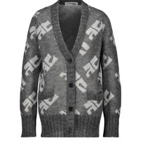 Courreges Mohair And Wool Cardigan Ash Grey