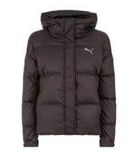 Puma Hooded Down Puffer Jacket Black