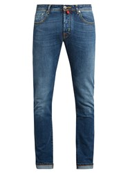 Jacob Cohen Tailored Stretch Denim Slim Leg Jeans Blue