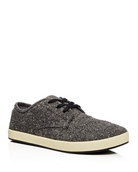 Toms Paseo Tweed Lace Up Sneakers Charcoal Fleck