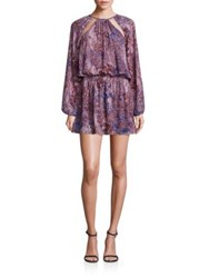 Ramy Brook Long Sleeve Front Cutout Dress Print
