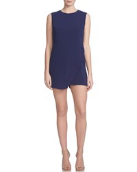 Cynthia Steffe Sleeveless Asymmetric Front Romper Evening Navy