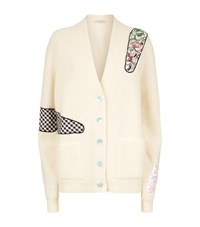 Christopher Kane Embroidered Patch Cardigan Female White
