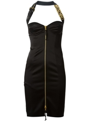 Moschino Bustier Halter Dress Black