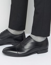 Base London Richards Leather Oxford Shoes Black