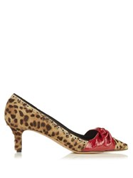 Isabel Marant Panely Leopard Print Calf Hair Pumps