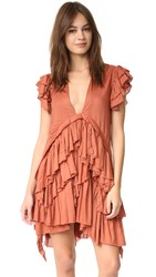 Maria Stanley Frades Dress Rust