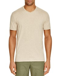 The Men's Store At Bloomingdale's V Neck Cotton Tee Oatmeal