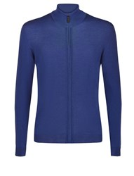 Aquascutum London Tomkis Zip Front Cardigan Blue