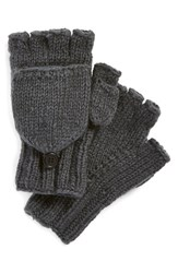 Women's Nirvanna Designs Convertible Fingerless Gloves Grey Smoke