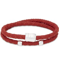 Miansai Casing Double Wrap Leather Bracelet Red