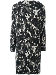 Norma Kamali Camouflage Print Dress Black