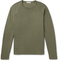 Alex Mill Double Faced Cotton T Shirt Army Green